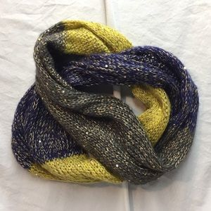 Gold and Sequins Infinity Scarf
